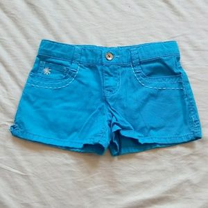 Girls size 7 Lei Chelsea low-rise blue shorts